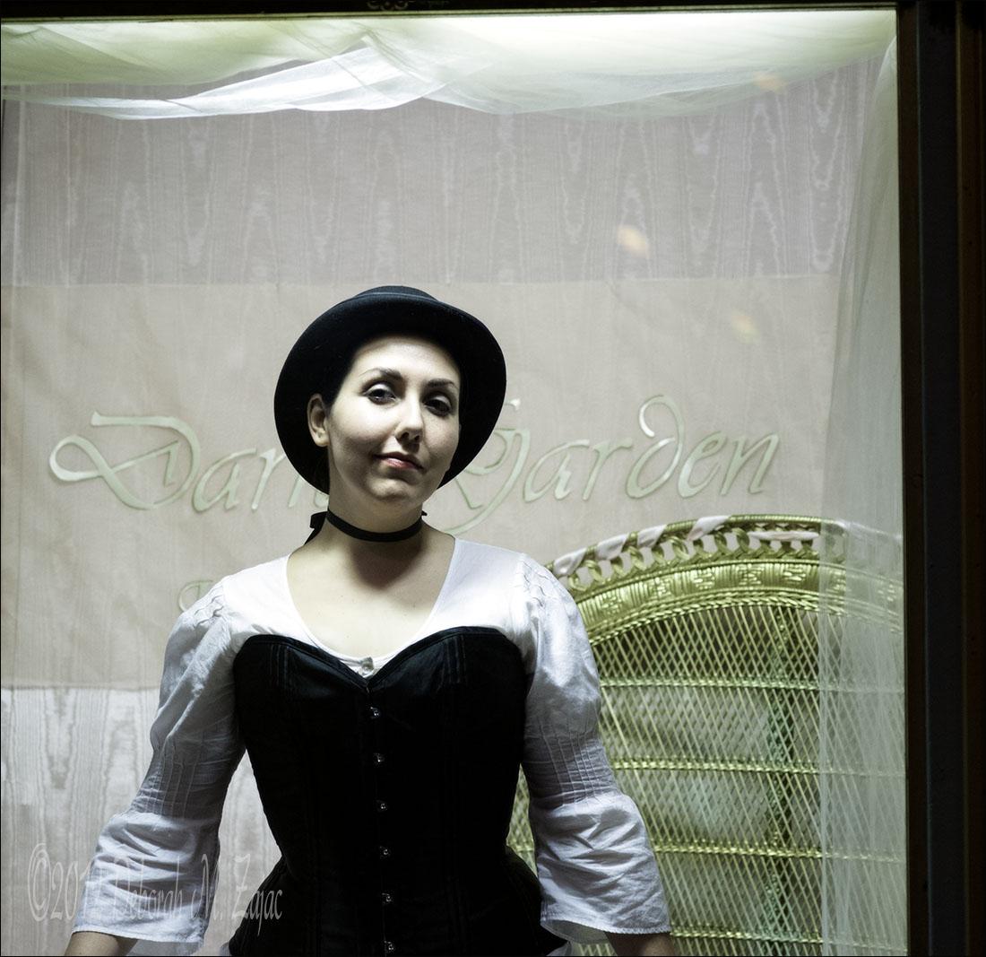 Corsets on display at Dark Garden