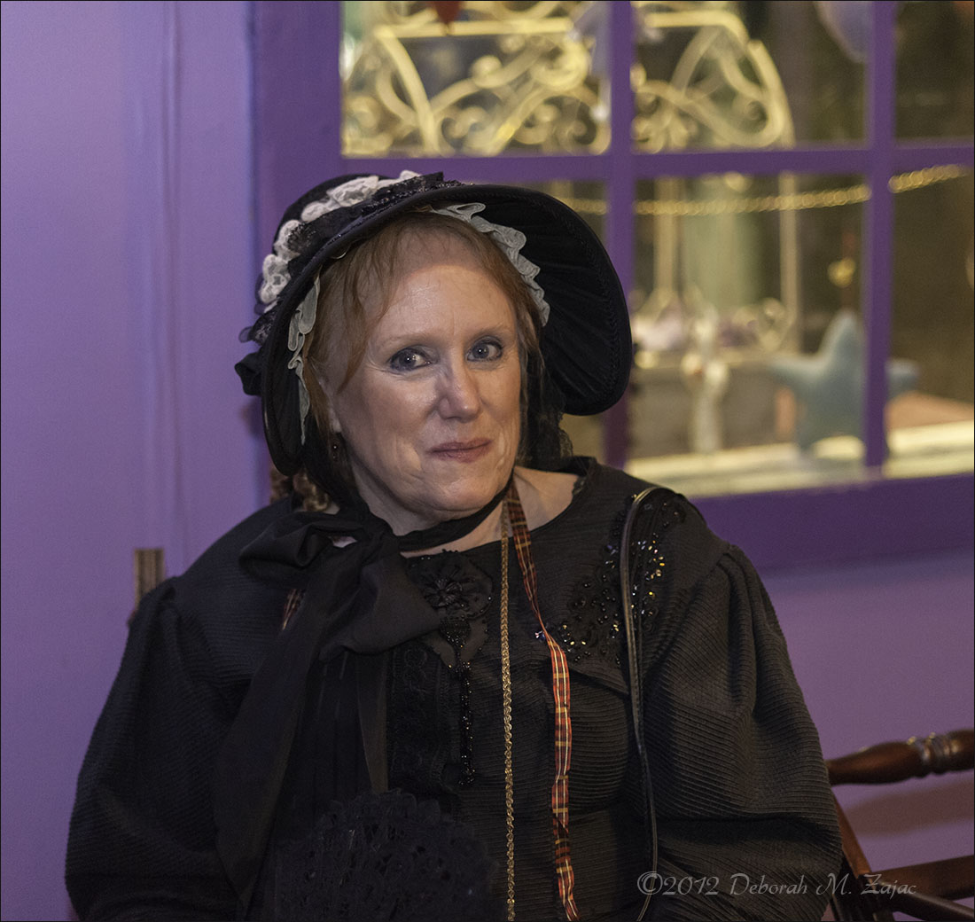 Woman in Black Bonnet