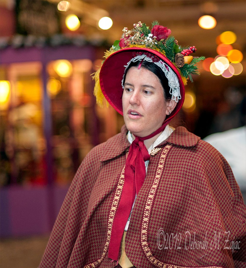 Woman in the Red Ornate Bonnet