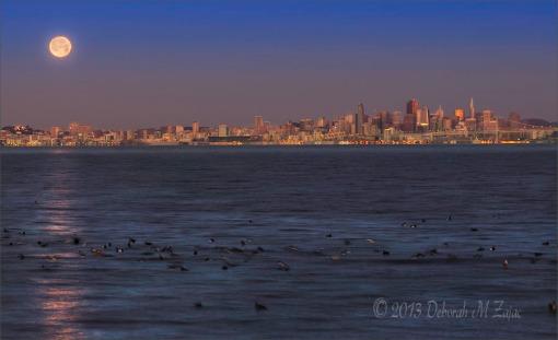 San Francisco Moonset