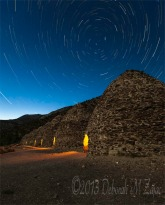 Star Trails over the Charcoal Kilns Death Valley California