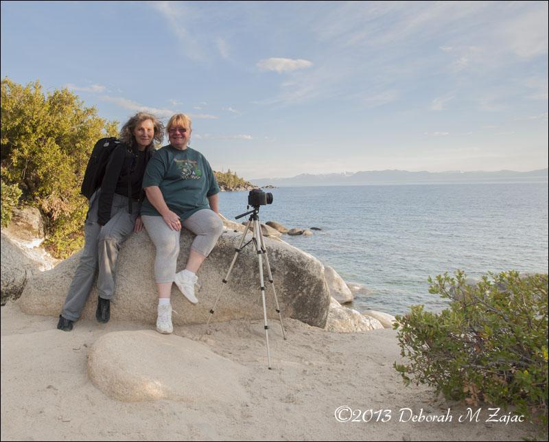 Jackie and I waiting for sunset Lake Tahoe
