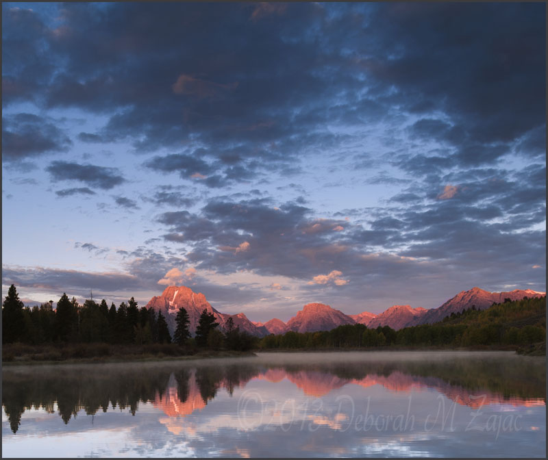 Sunrise Oxbow Bend and Mt. Moran