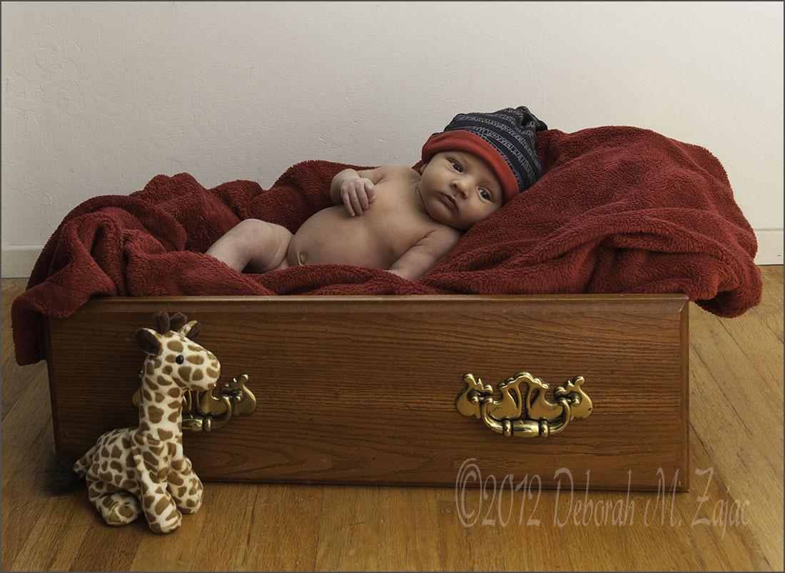 Jaxon in Red Blanket