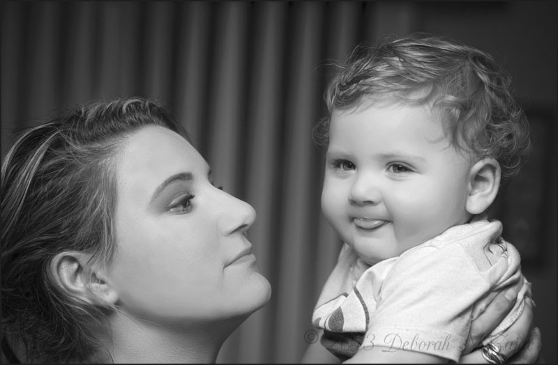 Allie and Jaxon black and white