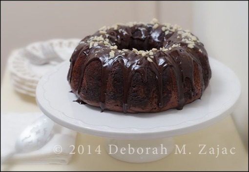 Chocolate chocolate chip Bundt Cake-Glazed