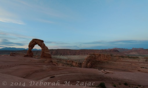 Civil Twilight at Delicate Arch