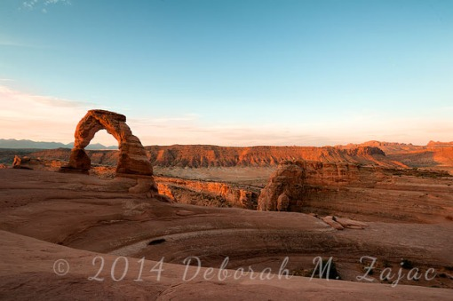 Morning's Golden Light on Delicate Arch Moab Utah