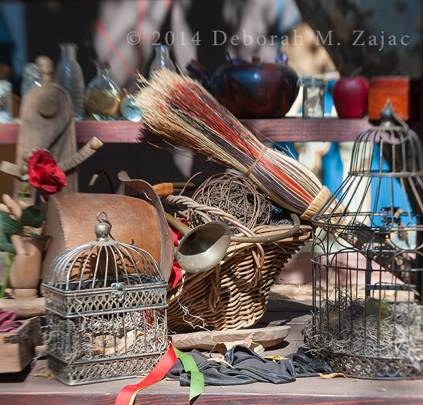 Bird Cages and Broom