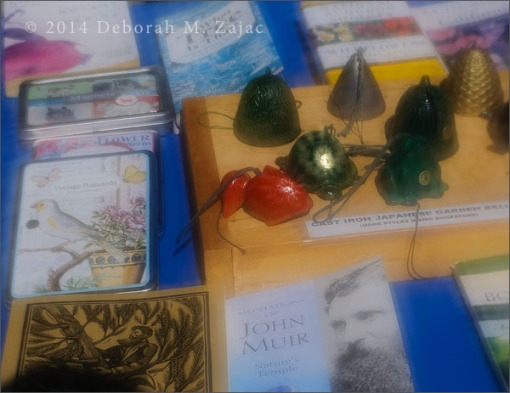 Japanese Cast Iron Garden Bells and Books
