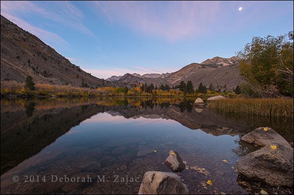 Moonset over Intake Lake 2