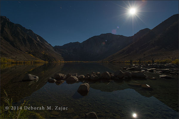 Moonset over Convict Lake