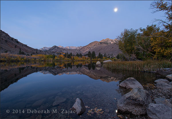 Moonset over Intake Lake 2