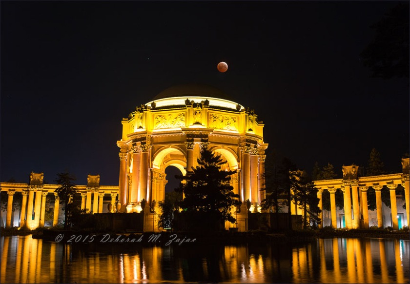 Totality-Lunar Eclipse over The Palace of Fine Arts San Francisc