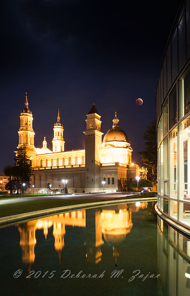 What If I had Stayed Total Lunar Eclipse over St Ignatius Cathed