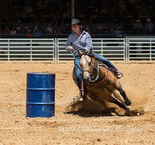 Barrel Racing Cowgirl Event