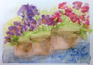 Impatiens I Watercolor