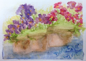 Impatiens I Watercolor