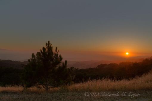 Sunset over Santa Clara County