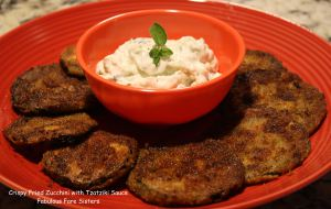 Crispy Fried Zucchini with Tzatziki Sauce