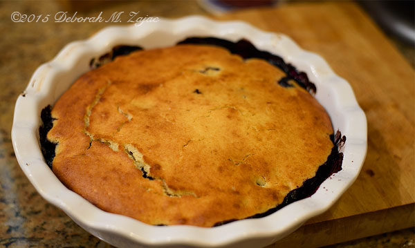 Just out of the Oven Blueberry Cobbler