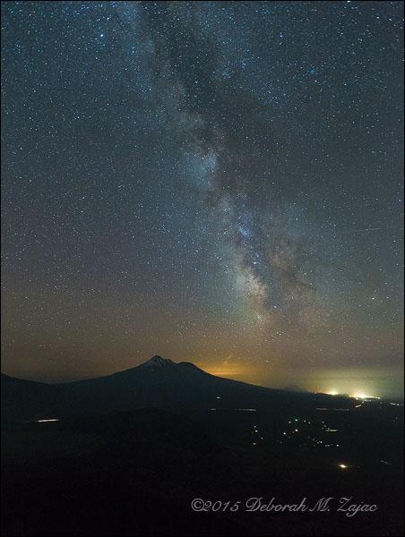 Milky Way over Mount Shasta CA, USA