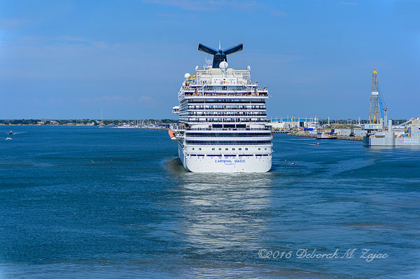 Carnival Magic Setting Sail Before Navigator of the Seas