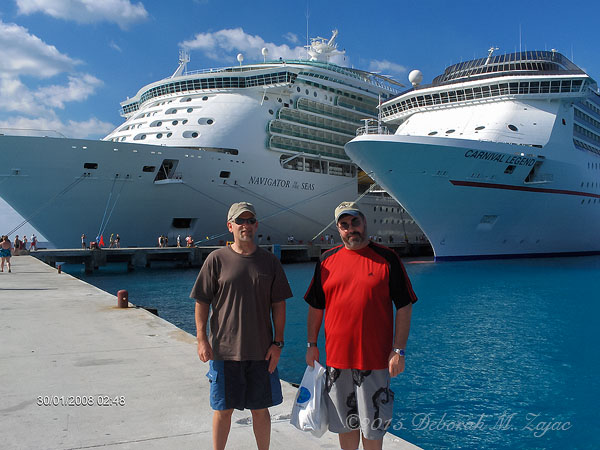 Navigator of the Seas Forward in the Port of Cozumel