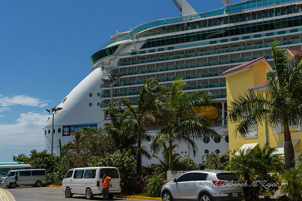 Navigator of the Seas Forward in the Port of Roatan