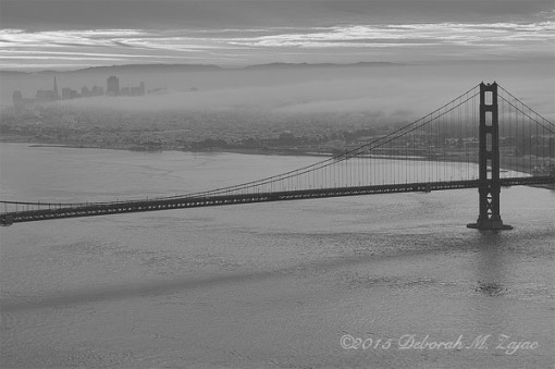 Morning Light and Fog over San Francisco CA