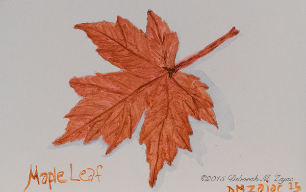 Maple Leaf in Watercolor