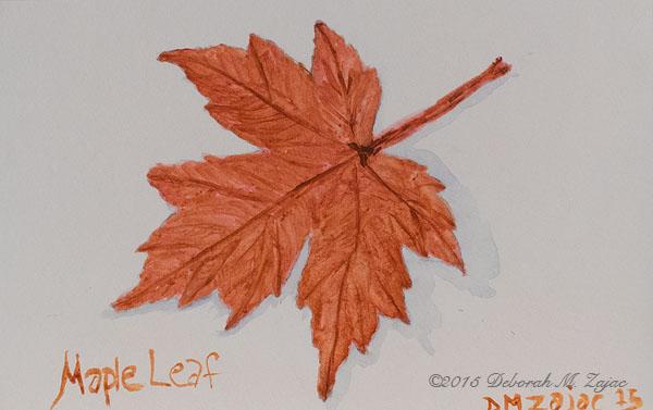 Maple Leaf in Watercolor