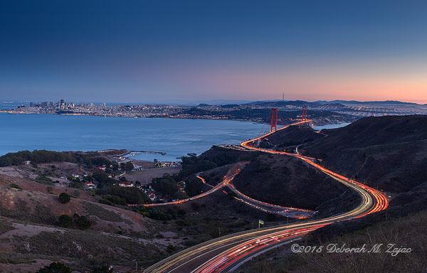 San Francisco Skyline from Slacker Ridge Trail
