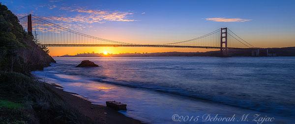 Sunrise over San Francisco CA
