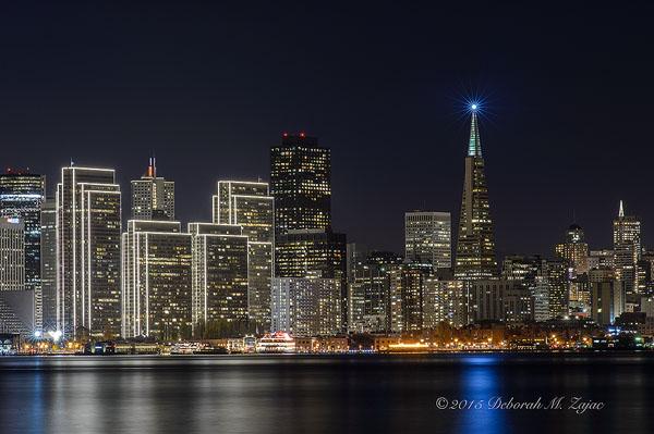 Christmas Lights Embarcadero Center San Francisco CA
