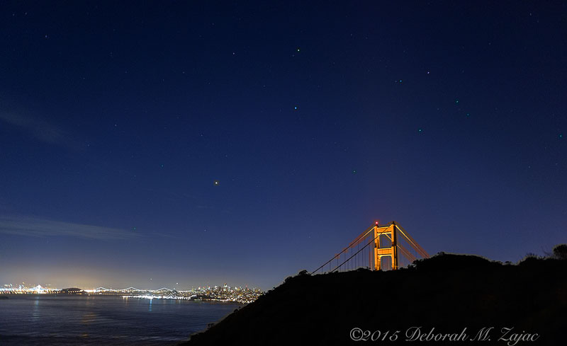 Venus and the Constellation Corvus over SF Bay