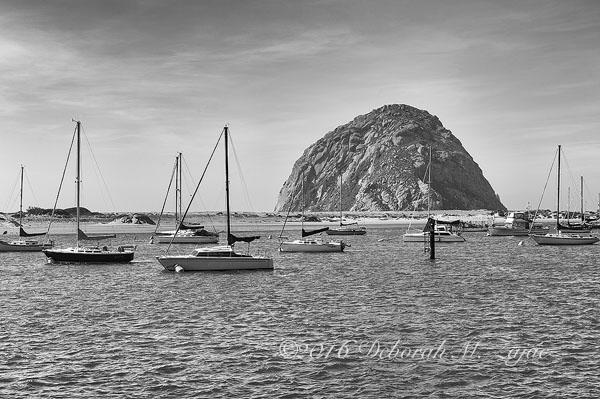 Morro Rock in Black & White