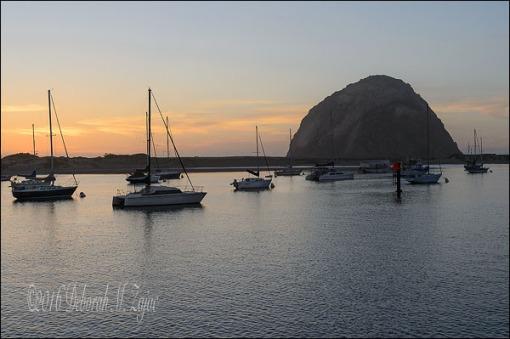 Sunset Morro Rock, Morro Bay, CA
