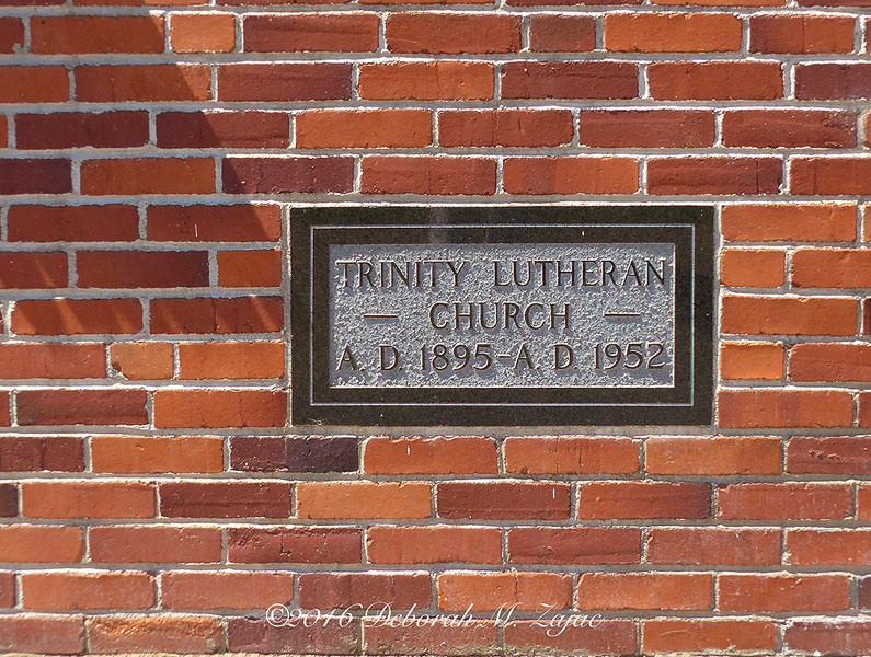 Building Age Plaque Trinity Lutheran Church