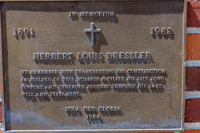 Trinity Luthern Church Dedication Plaque