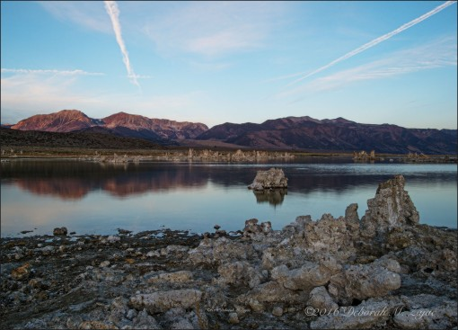 Alpine Glow on Eastern Sierras from Mono Lake