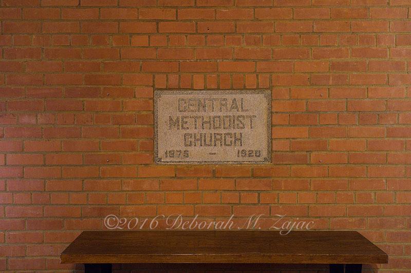 Central Methodist Plaque