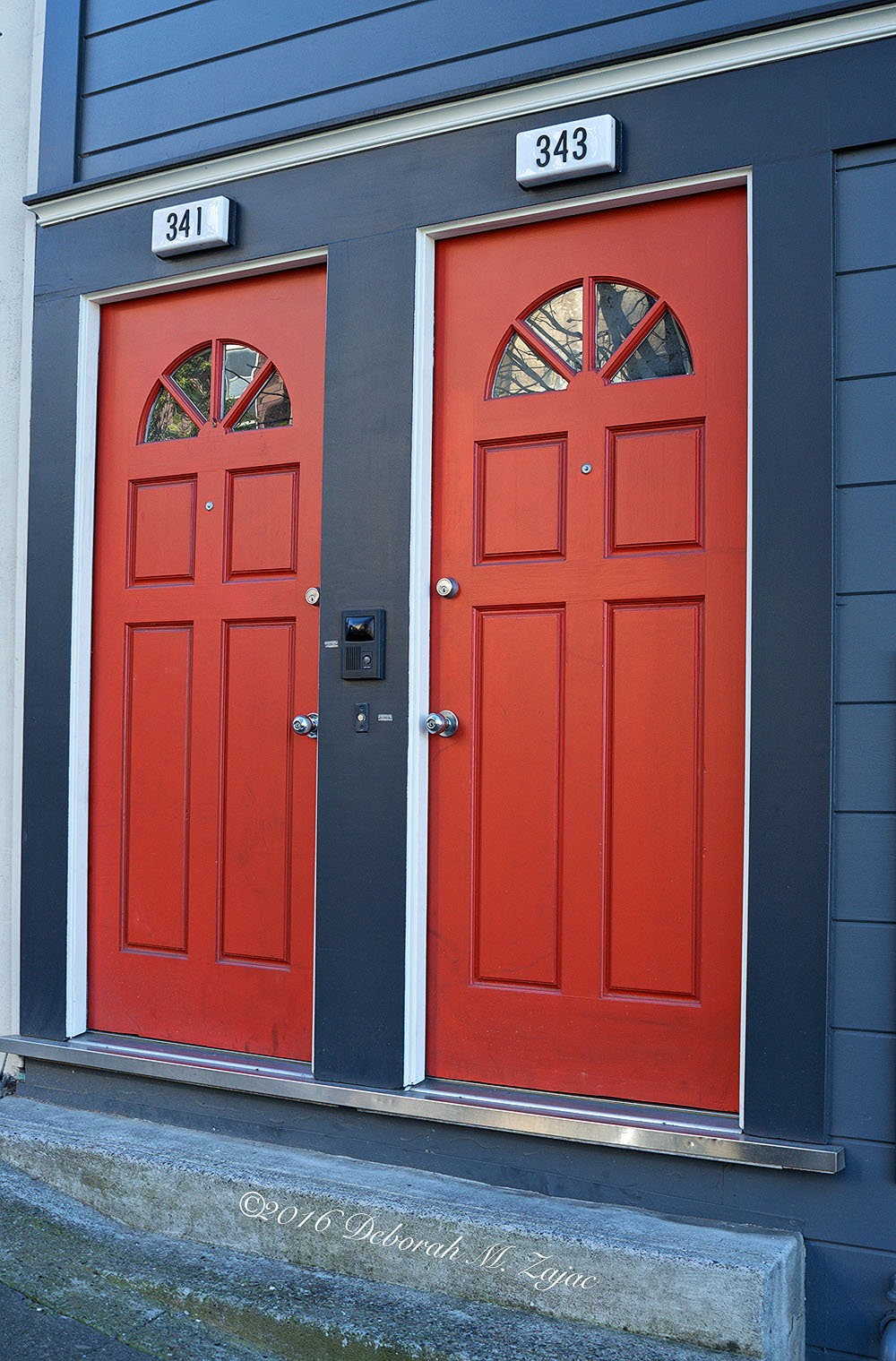 N° 341 and N° 343 Red Doors