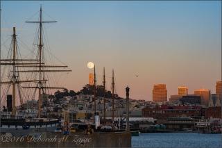 Full Moon over Coit Tower