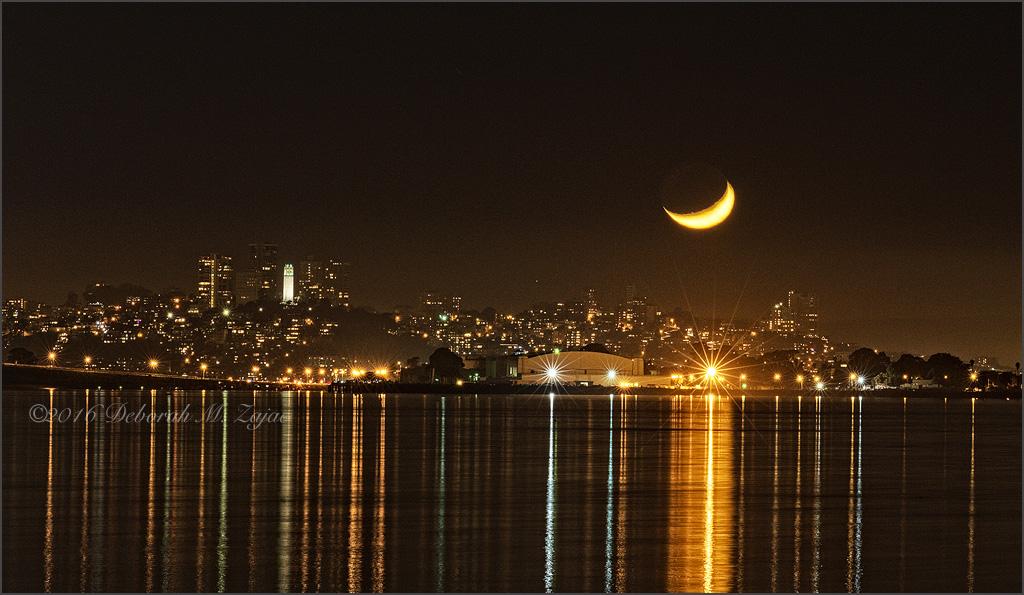 Moon Set over San Francisco