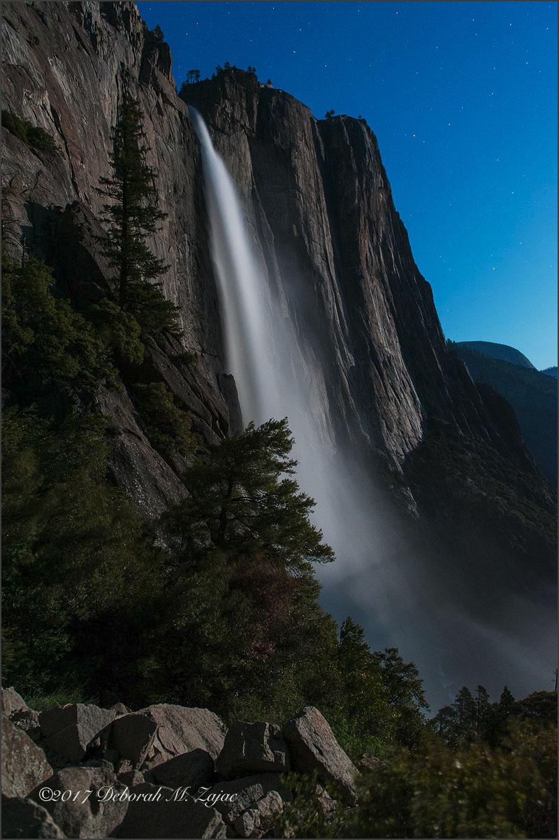 Upper Yosemite Fall by Moonlight