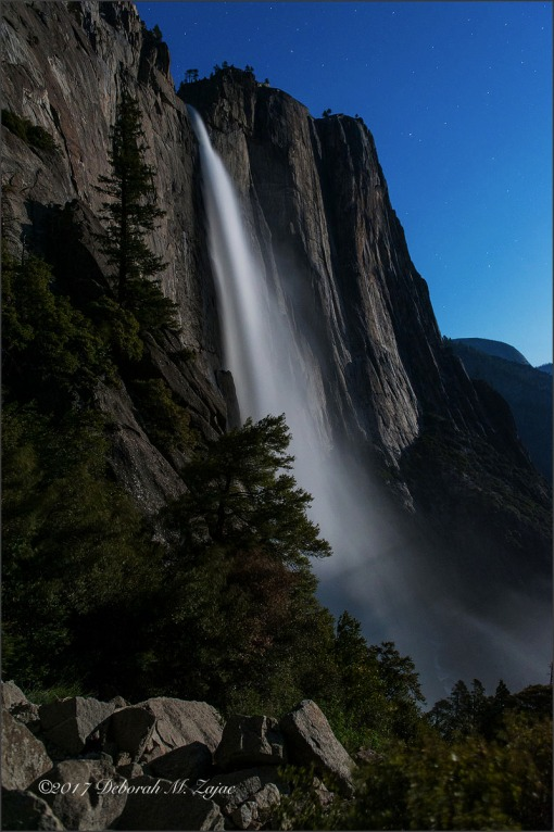 Upper Yosemite Fall by Moonlight