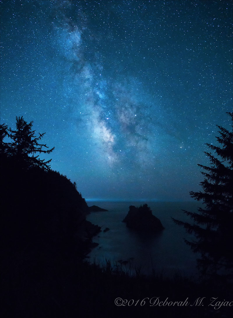 Milky Way over Sea Stack