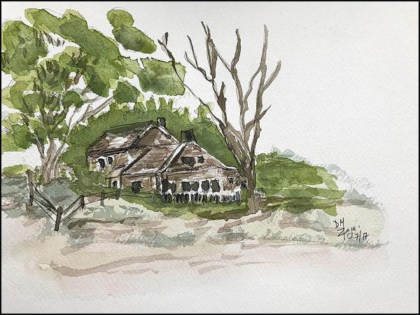 Ranch Watercolor