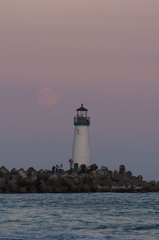 Walton Lighthouse and Thunder Moon